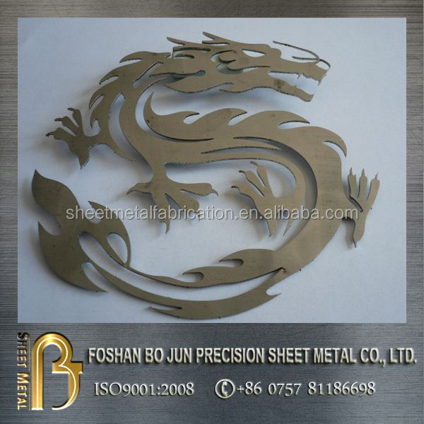 china supplier custom-made laser cutting dragon decoration sheet metal fabrication