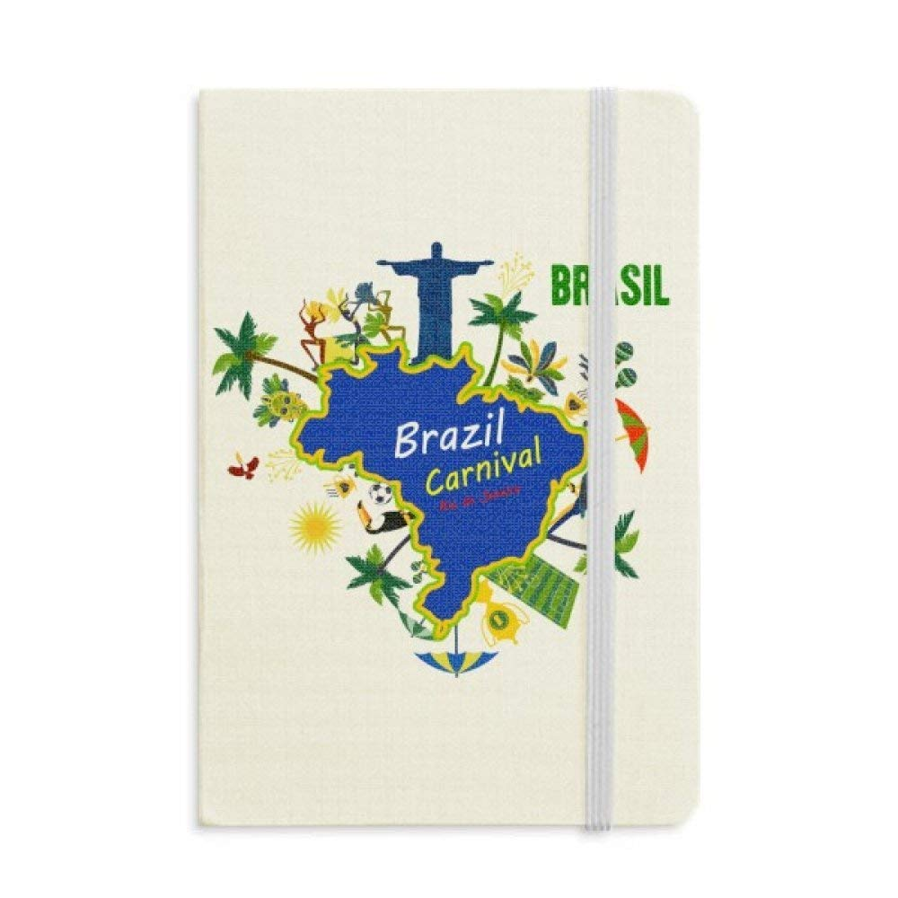 Mount Corcovado Brazil Maps Brazil Carnival Notebook Fabric Hard Cover Classic Journal Diary A5