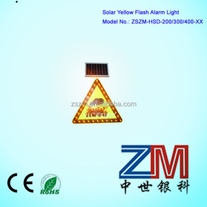 Solar LED flashing Whistle car Informative Traffic Sign