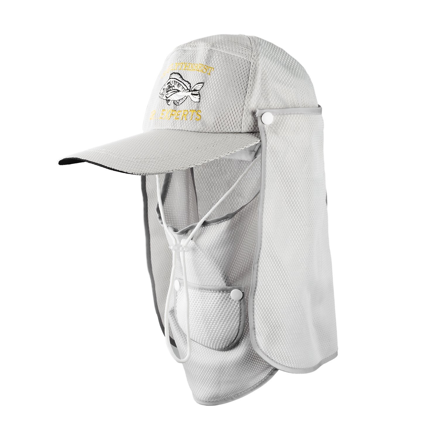 Get Quotations · Flap Neck Hat UV Protection Fishing Hat Face Hat Sun Caps  with Neck and Face Flap d41527282a16