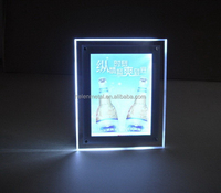 2014 hot-sale custom led crystal light box frame