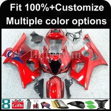 INJECTION MOLDING panels Fairing red For Suzuki K3 GSXR-1000 2003-2004 GSXR 1000 GSXR1000 2003 2004 Custom Fairing