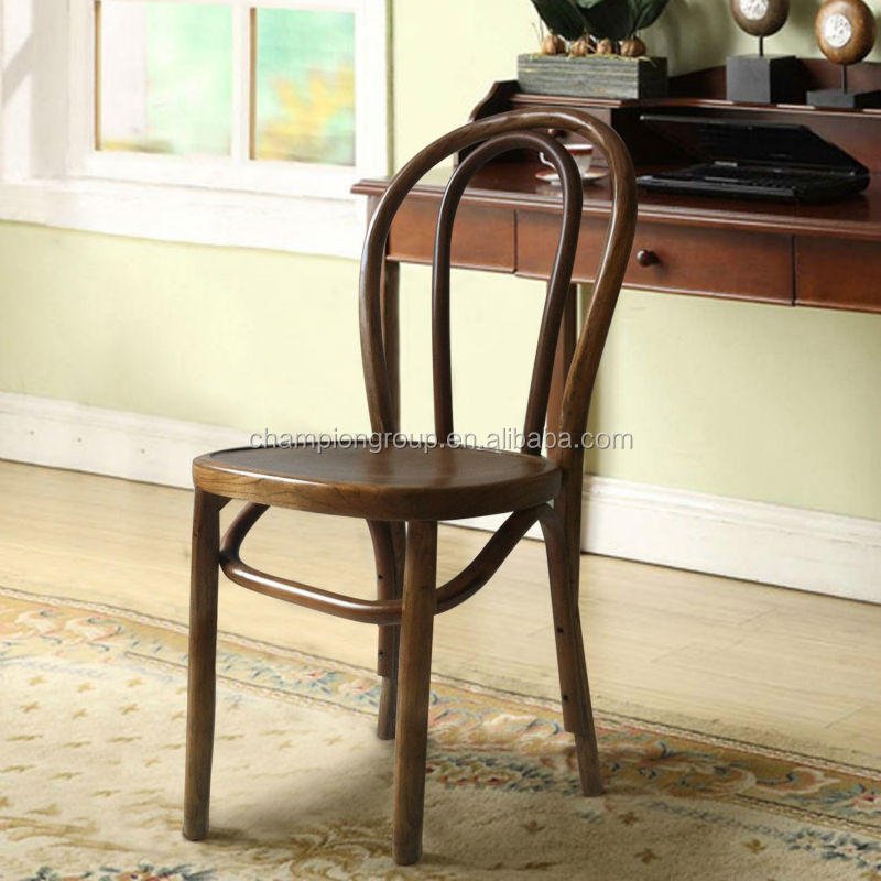 Antique Wood Chair Vintage Style Solid Dining MX 0011W