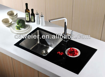 Gtb8848r Black Tempered Glass Kitchen Sink - Buy Tempered Glass ...