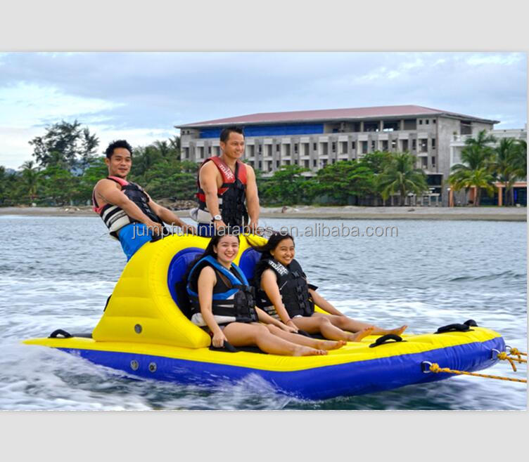 Inflatable water towable sports 4 persons inflatable water tube for adults crazy Sofa ski