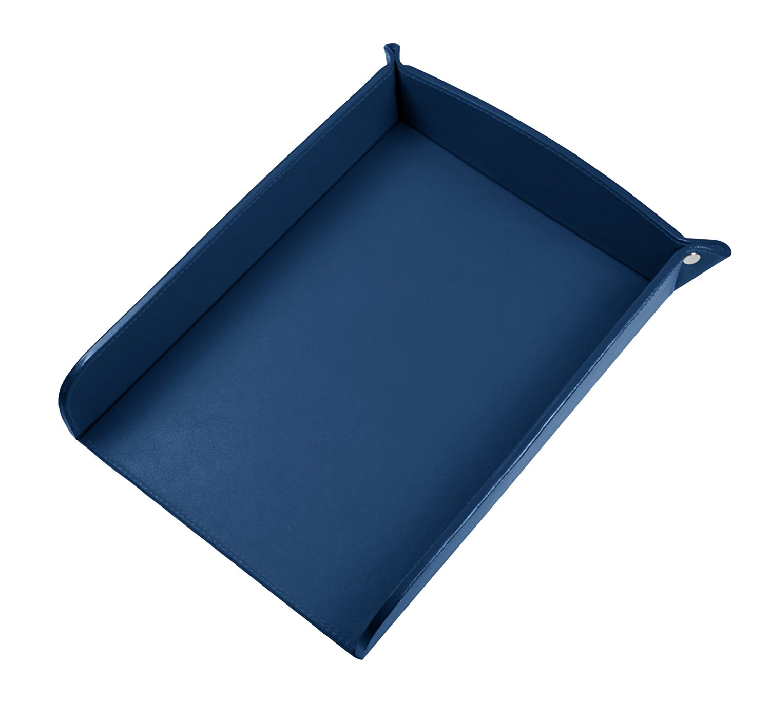 Lucrin USA Inc. A5 Paper Leather Holder, Smooth Cow, Royal Blue