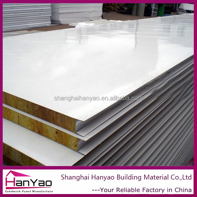 Fireproof Easy Installation Rockwool/PU/EPS Sandwich Panel for Truck Body Precio m2 Panel Sandwich