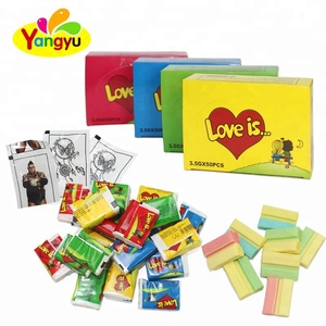 Love is Chewing gum with comic strip paper
