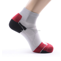 Professional Speed up Breathable half terry cotton athletic running/racing cycling socks