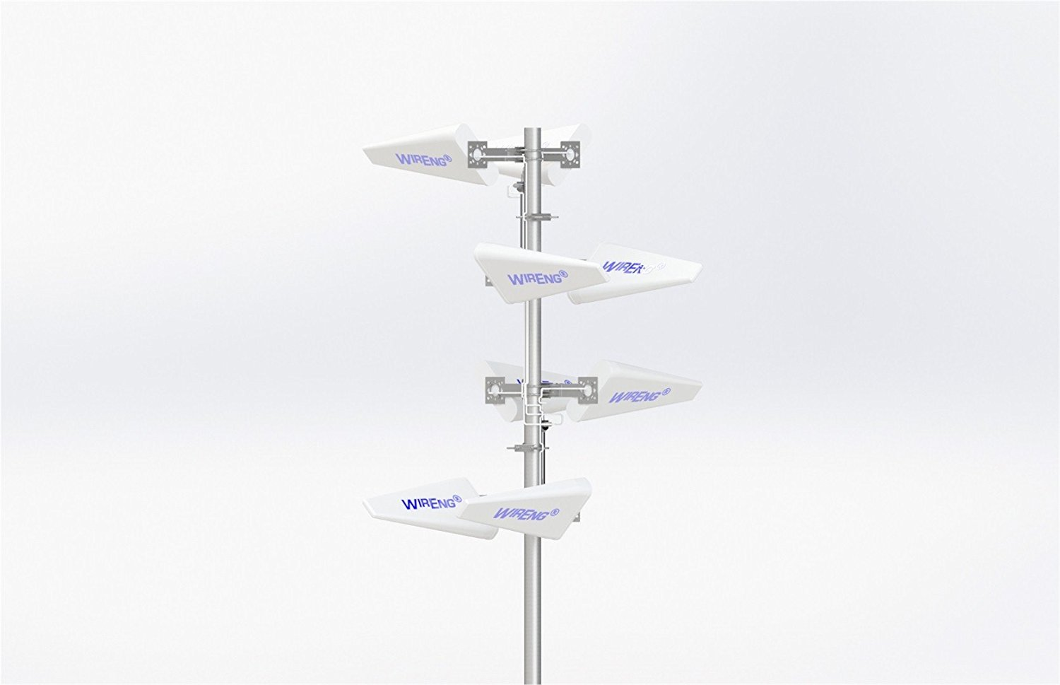GigaMIMO™ MIMO/Dual Antenna for NetComm 3G9WB BigPond Outdoor/Maritime Omnidirectional Ultra High Gain ±45° Pol Enclosed