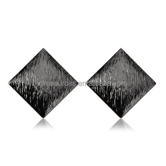 2016 design fashion mineral style rhombus vintage earrings