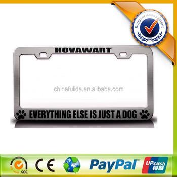 Make Your Own Design Metal License Plate Frames For Car