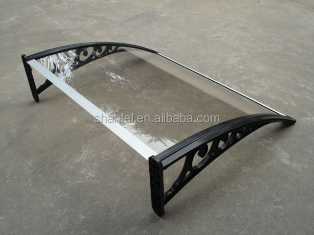 plastic awning canopy for front door window cover rain shelter