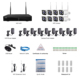Wifi NVR with 8 PCS 960P Day Night Wireless Outdoor/Indoor cameras de seguridad Home CCTV Surveillance Systems with 1TB HDD