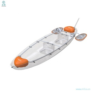 Miico Manufacturer New Design Transparent Polycarbonate Kayak /clear Fishing Boat/ Crystal