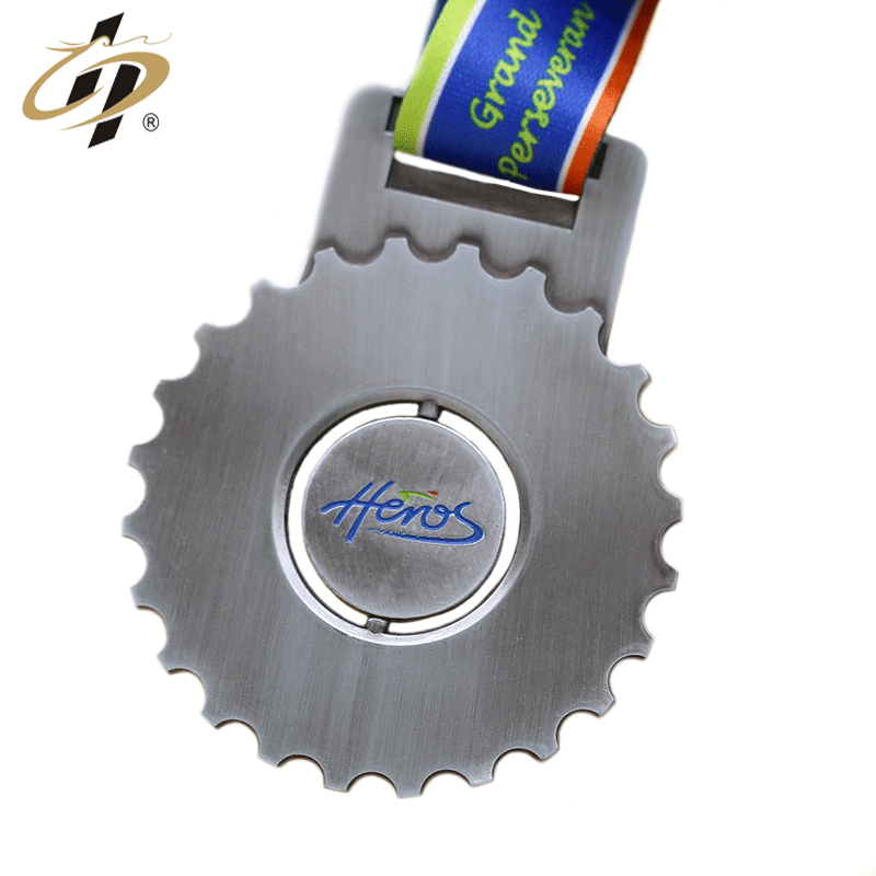 top quality shuanghua custom 3D antique sliver metal cycling medals with own design