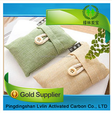 100% Natural Bamboo Charcoal Air Purifying Bags/ Charcoal Backage Air Freshener with customized