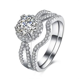 Fashion Jewelry Design Engagement S925 Silver Diamond Ring