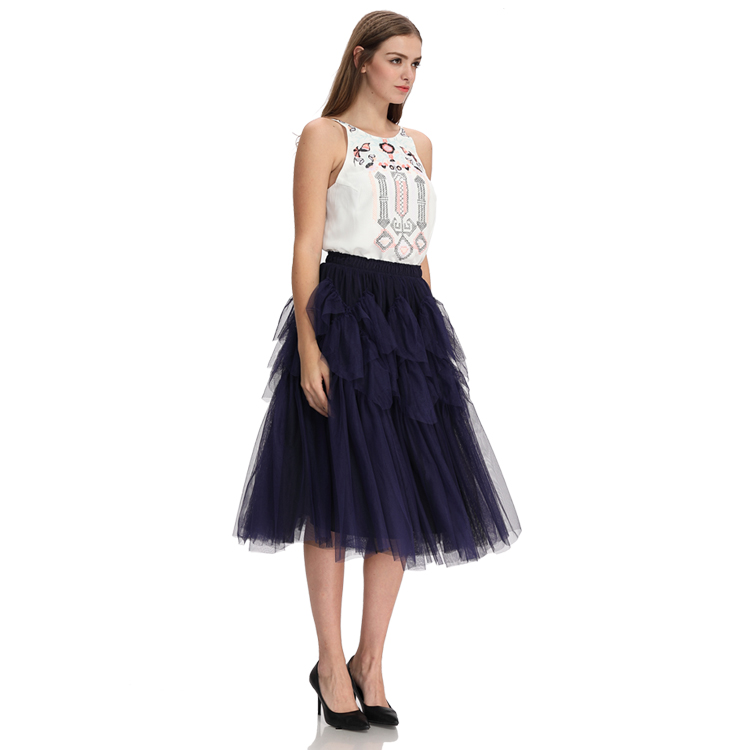 Domin wholesale adult puffy tulle skirt women