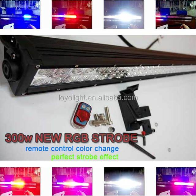 Remote Control Wireless Three Color Changing Led Rgb Strobe Light Bar