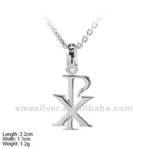 PSA-0993 925 Sterling Silver XP Letter Pendent For Men