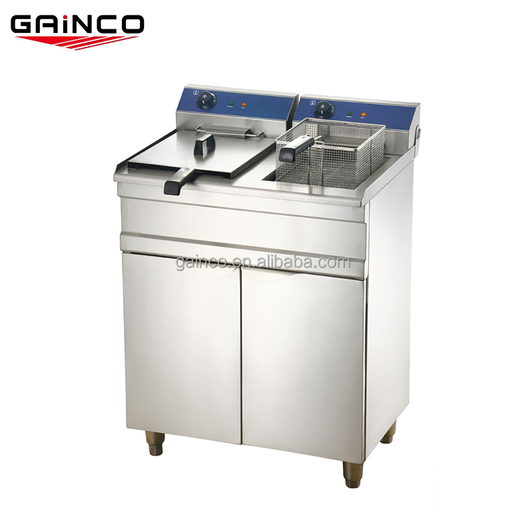 Double tank 10L commercial deep turkey cooking fryer