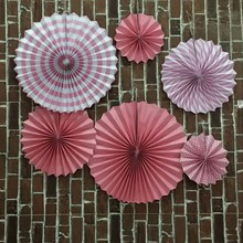 Folding Fan Flower Fashion Colorful Handcraft Paper Fan Rosettes Kid's Birthday Party Supplies Home Wedding Shower Backdrop