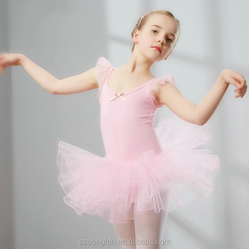 Elegant Ballerina Tutu Dresses Kids Dance Costume Leotard Ballet Dresses Gymnastics Leotards For Baby Girls