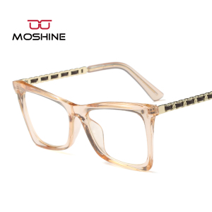MS-196 Brand Italy design eyewear frame women Chain style optical frames wholesale