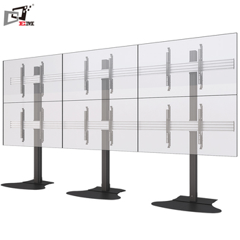 Flat Screen 70 Inch Tall 3x2 Freestanding Modular Lcd Tv Stand For
