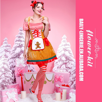 Hot Sexy Adult Gingerbread Woman Christmas Fancy Dress Costume  sc 1 st  Alibaba Wholesale & Hot Sexy Adult Gingerbread Woman Christmas Fancy Dress Costume - Buy ...