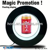 Most Attractive ! Magnetic Floating display stand for plastic bottle ,5 gallon water bottle stand