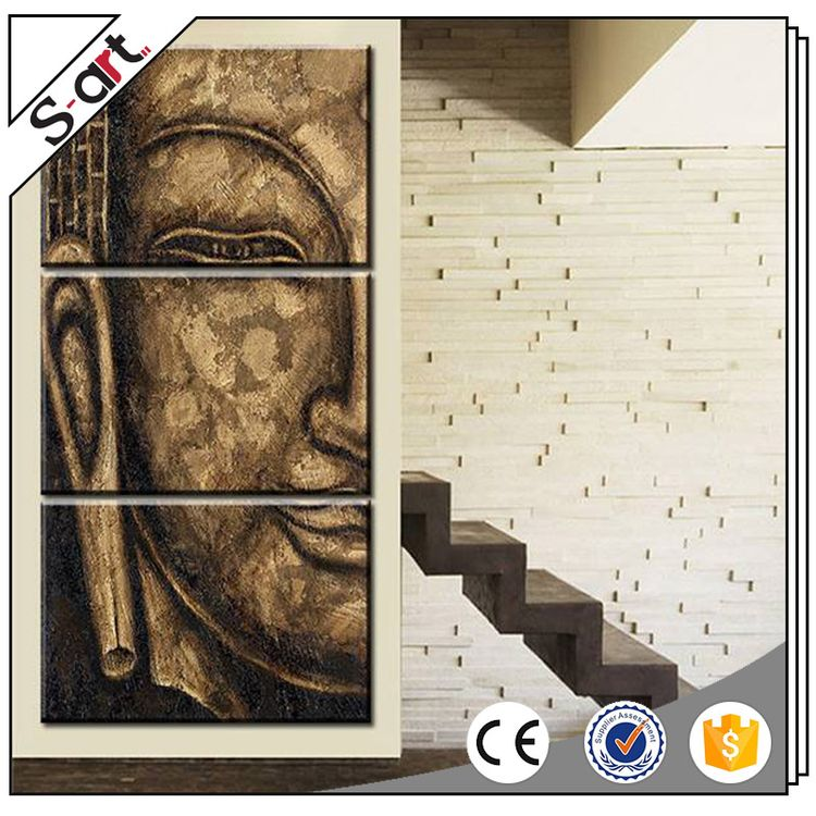 Various Styles New Arrival Buddha Half Face Newest Abstract Oil Paintings