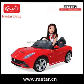 Licensed Rastar 2016 Newest Ferrari Car Baby Ride On Toy Car Good Looking