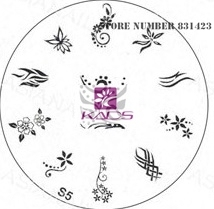2015 S Series S5 Nail Polish DIY Stamping Plates Stainless Steel plate Nail Art Image Stamp
