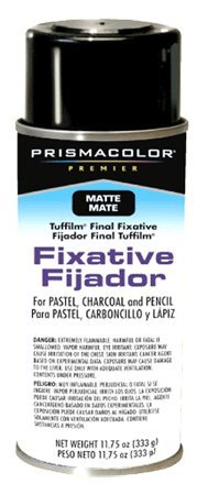 Prismacolor Tuffilm Final Fixative Spray (Previously Grumbacher) - Color: Matte - Size: 11-3/4 oz.