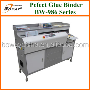 Auto Clamping Cover and Clamping Book perfect binding machine