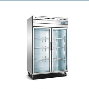 commercial 2 glass door hotel used freezer kitchen refrigerator cabinet