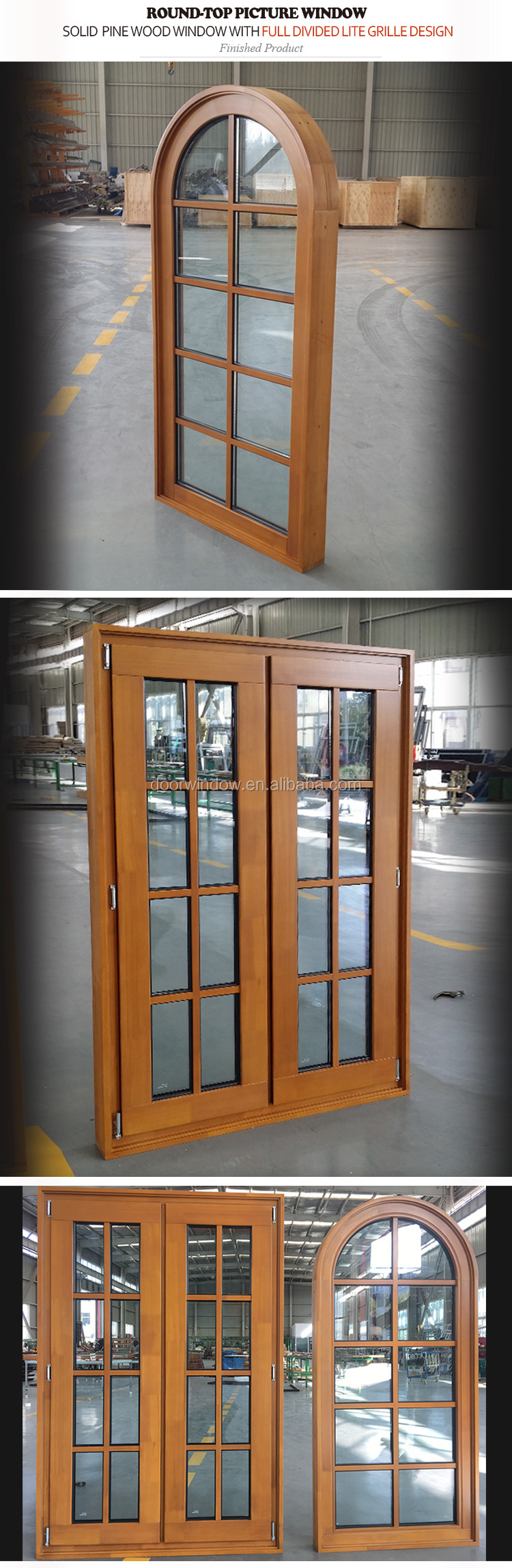 Customized arch window depot & home type windows top for sale