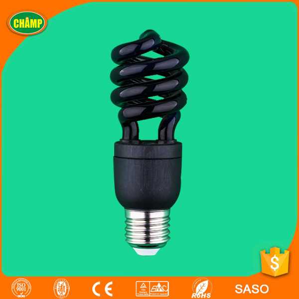 13W 365nm self electronic ballast spiral black UV light