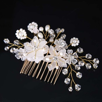 AP40013 New design wedding styling hair comb accessories with bead and rhinestones for women