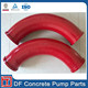 45 degree R1000 DN125 Concrete Pump Wear-resisting pipe bend