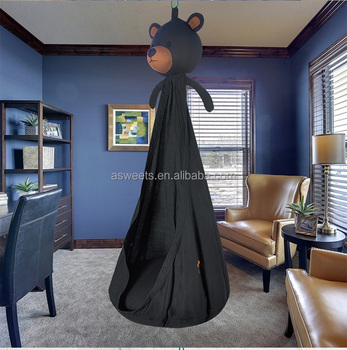 KIDS HANGING SWING PLAY TENT WHOLESALE BLACK BEAR SHAPE PLAY TEEPEE FOR CHILDREN & Kids Hanging Swing Play Tent Wholesale Black Bear Shape Play ...
