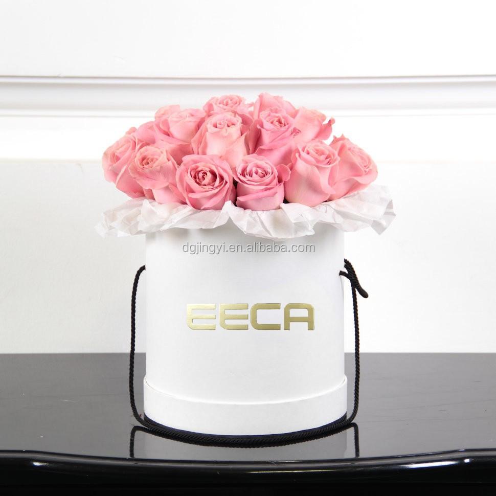 High Quality Waterproof Paper Flower Hat Box/round Flower Gift ...