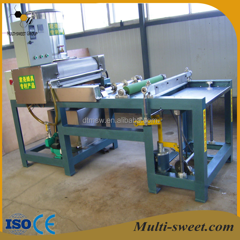 High efficiency full automatic beeswax foundation machine