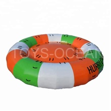 Water saturn inflatable disco boat water toy towable for aqua games