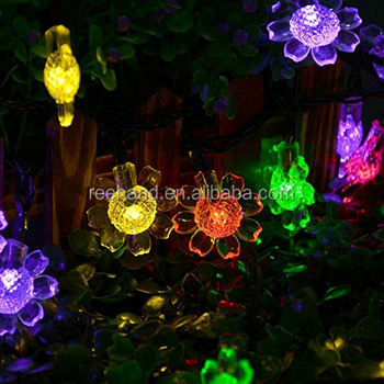 50 leds solar fairy light sunflower shaped garland light for festival christmas tree decorative