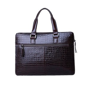 Crocodile leather briefcase from china manufacturer