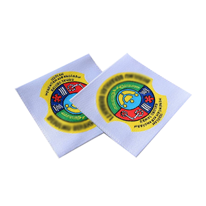 Wholesale Custom satin woven edged label With Roll woven label