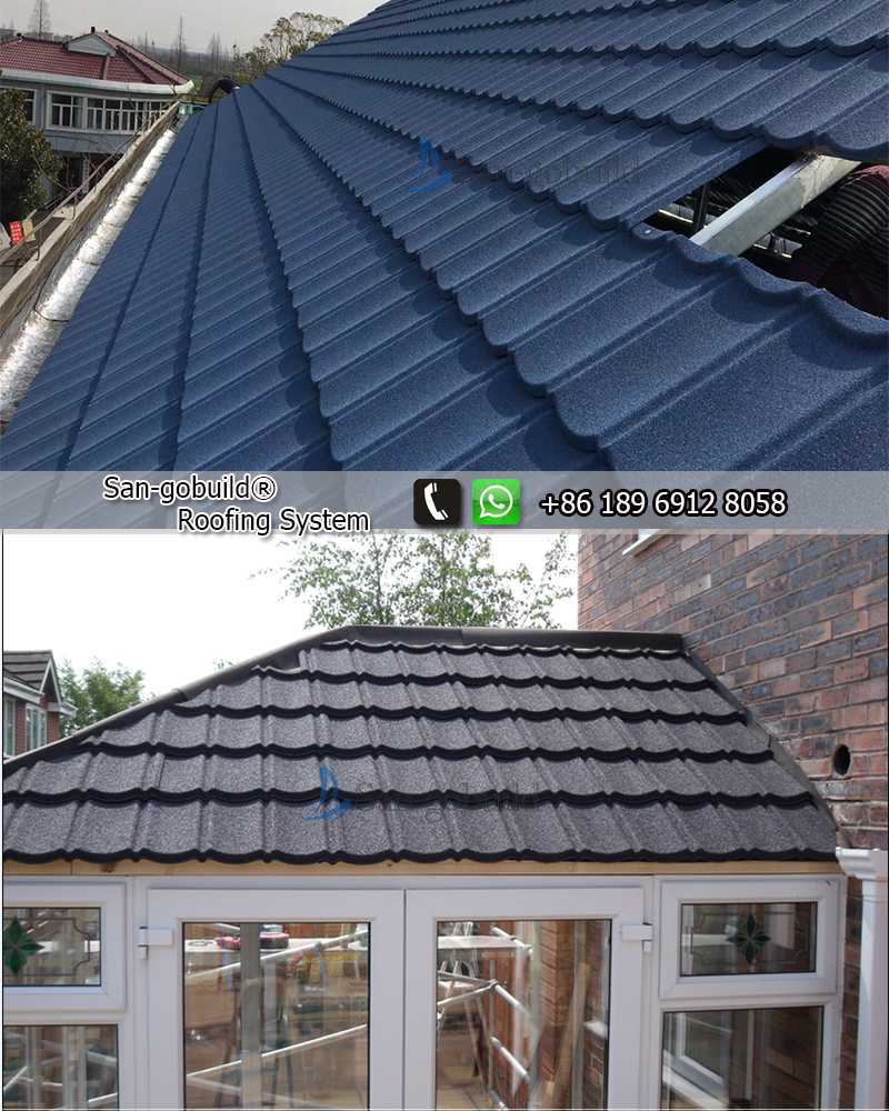 German Lightweight Stone Chips Coated Type Steel Roofing
